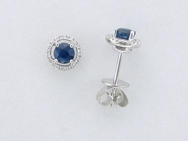 Sapphire and Diamond Earrings