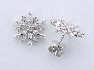 18kw Snowfake Earrings