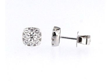 0.72 ctw Halo Stud Earrings