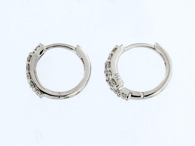 18KT Bypass Hoop Earrings