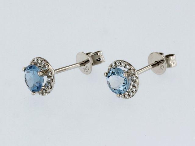 18kt Aquamarine Earrings