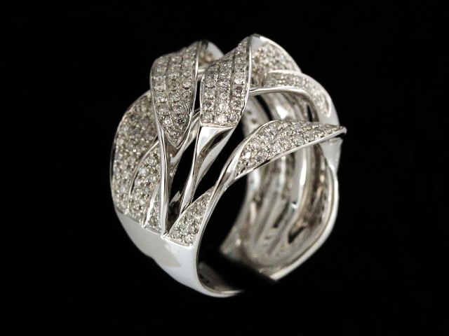 18KT Multi Twisted Ribbon Ring