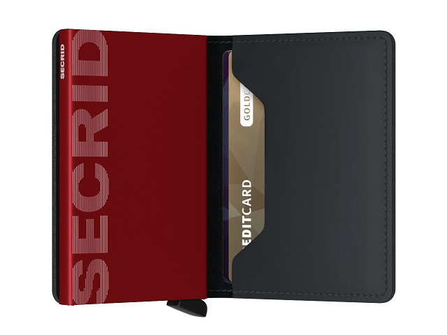 Matte Black & Red Slimwallet