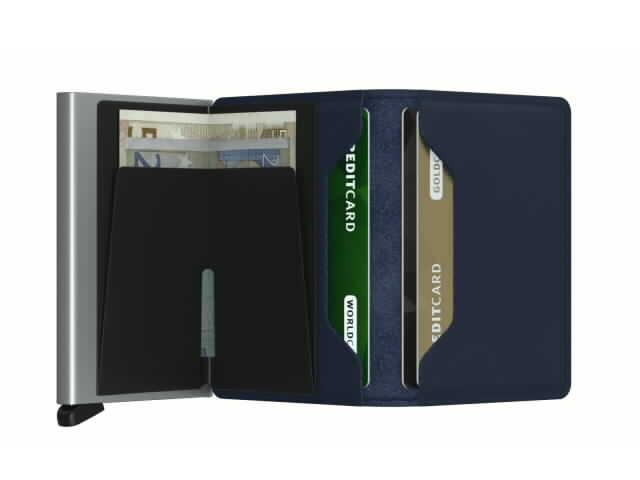 Navy Secried Slim Wallet