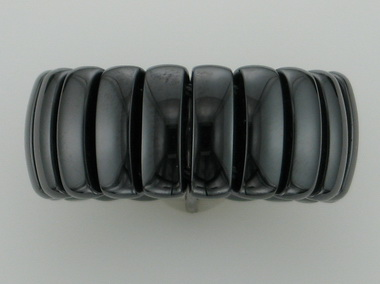 Black Ceramic And Steel Flex Ring