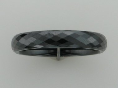 Faceted Black Ceramic Ring
