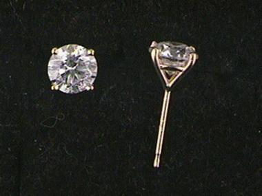 1.44ctw S I 3,  G Diamond Studs