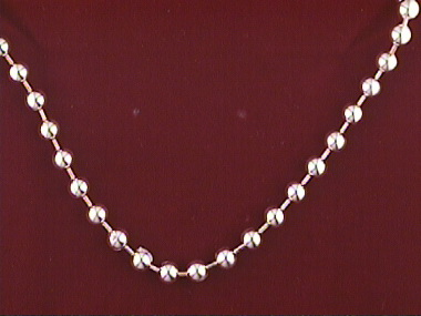 16 Inch Stationed Ball Chain