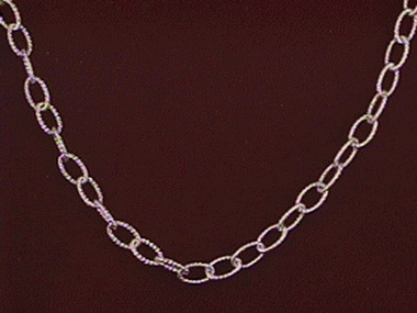 16 Inch Faceted Cable Chain