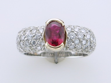 14kwy Ruby & Diamond Ring