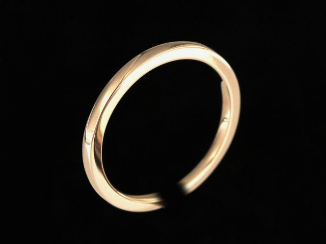 Domed Rose Gold Band