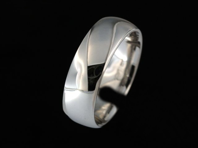 7.00 mm White Gold Band