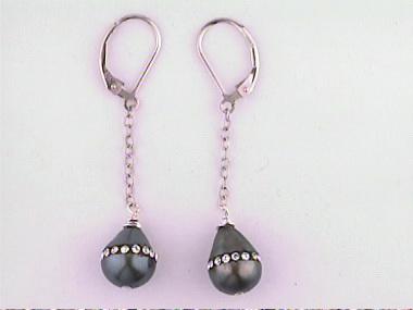 Cz & Pearl Drop Earrings