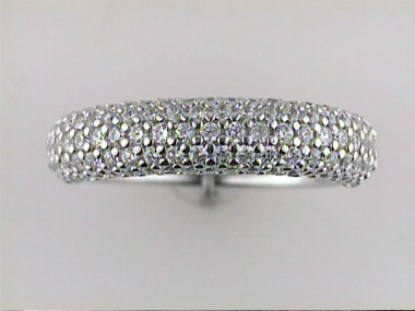 Silver Band With Cubic Zirconia