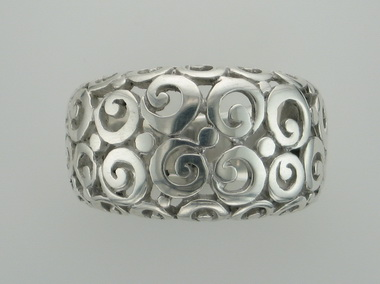 Silver Scrollwork Ring