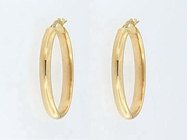 10KT Large Oval Hoop Earrings