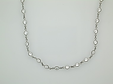 Black Rhodium Silver Cz Necklace