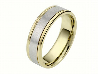 14kt. 2tone 6.5mm Band