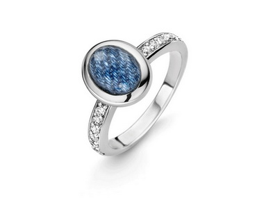 Oval Blue Crystal Ring