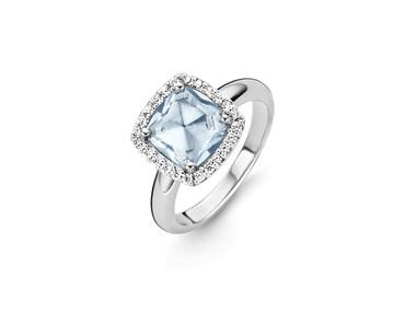 Light Blue Crystal Ring