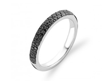 Black Zircon Pavee Band