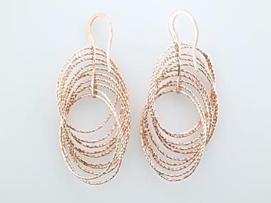 Pink Multi-oval Dangle Earrings