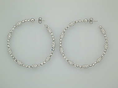 Large White Mars & Gothic Earring