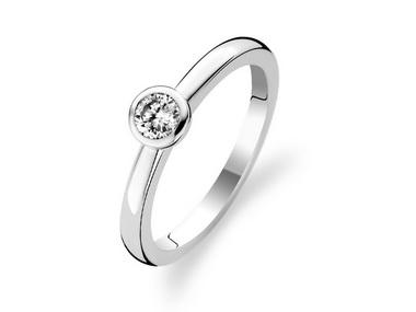 Bezel Set Cubic Ring