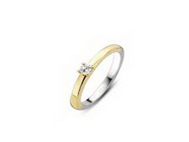 Two Tone Cubic Ring