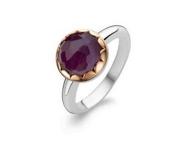 Purple Catseye Crystal Ring