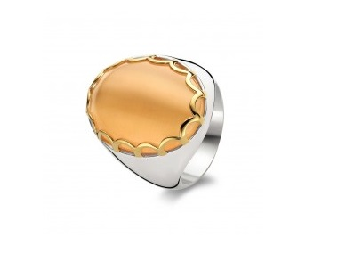 Orange Catseye Crystal Ring