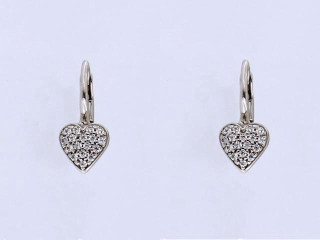 Heart Shaped French Back Earrings