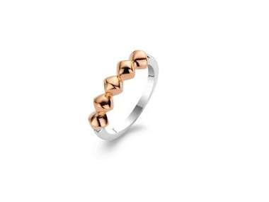Rose Plated Bead Ring