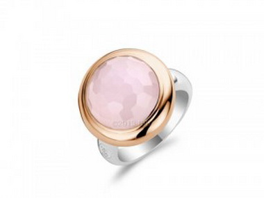 Faceted Pink Crystal Ring