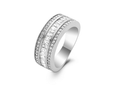 Silver Triple Channel Ring