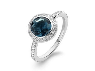 London Blue Crystal Ring