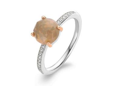 Orange Crystal Ring