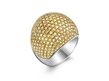 Textured Gold Tone Ring