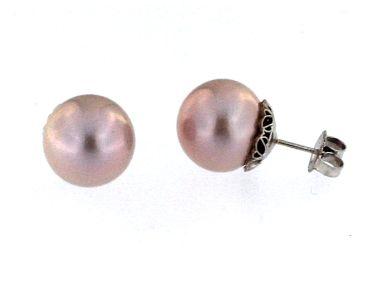 13 - 14 mm Pink Pearl Earrings