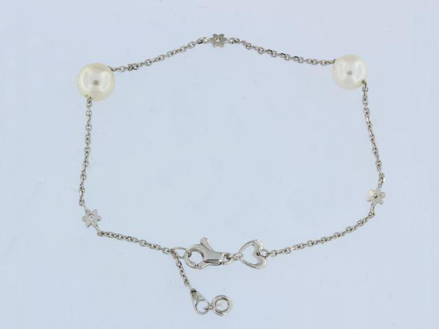 18KT Pearl Station Bracelet