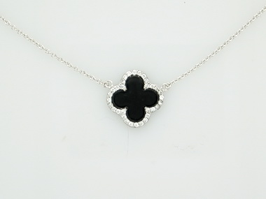 Onyx Cubic Necklace