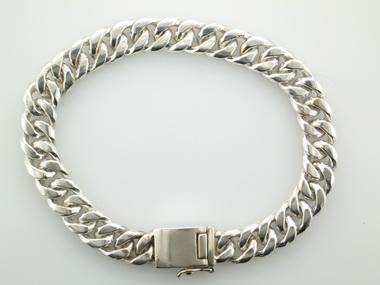 Silver Curb Link Bracelet
