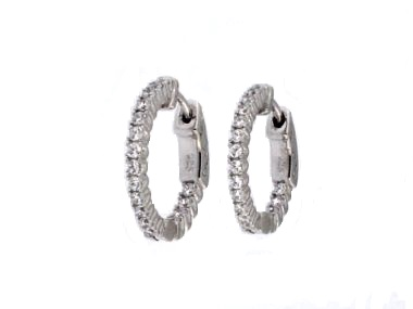 Locking Silver Hoop Earrings