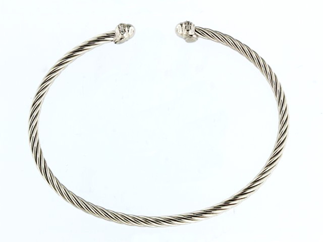 Silver Cable Cuff Bracelet