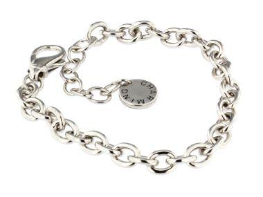 Silver Cable Link Bracelet
