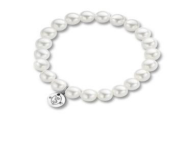 Ti Sento White Bead Bracelet