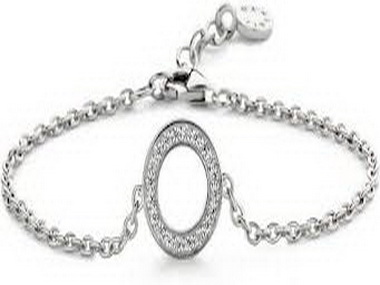 Silver and Cubic Circle Bracelet
