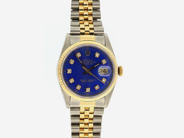 Gents Rolex Oyster Datejust TT Blue Dial