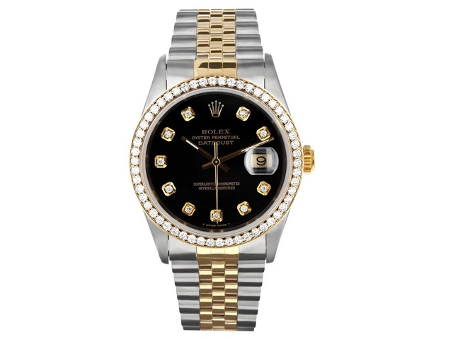 Rolex Oyster Perpetual Datejust Dia Blk