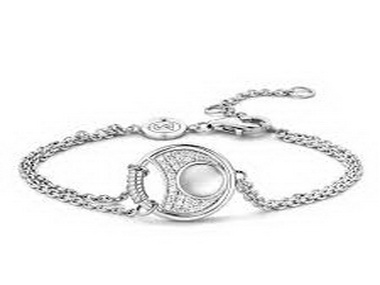 Silver and White Crystal Bracelet